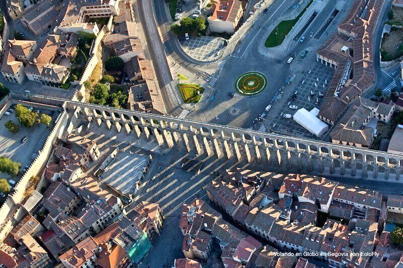 Acueducto de Segovia desde el Globo