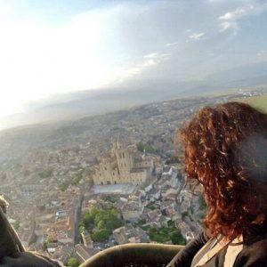 Vuelo en Globo en Segovia 04/06/16. Así vemos la Catedral de Segovia en el viaje en globo aerostático