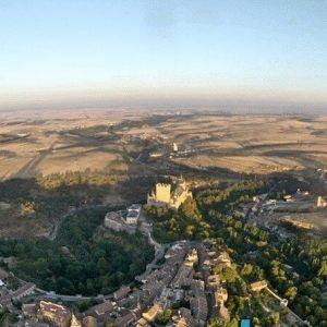 Vuelo en Globo en Segovia 28/08/16. El Alcázar de Segovia desde el viaje en Globo