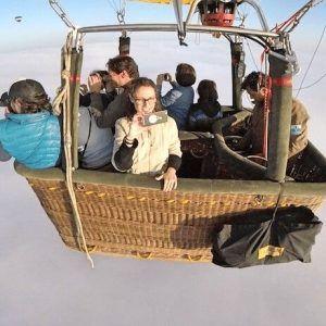 Tú puedes hacer una foto como esta! Viaje en globo por encima de las nubes