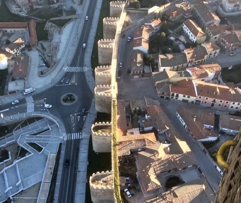 Vuelo en Globo en Ávila 26/04/16. Viaje en globo sobre las murallas de Ávila