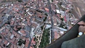 Catedral, Palacio y muralla desde la cesta del globo