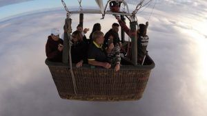 Vuelos en globo sobre las nubes