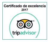 TripAdvisor Certificado Excelencias 2017 EoloFLY