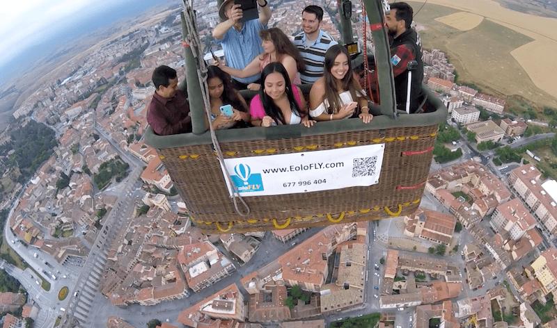 Volar en Segovia y dejar opinión en TripAdvisor