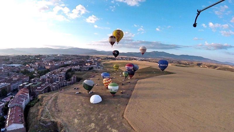 Vistas al despegue en el Festival de Globos de Segovia 2018