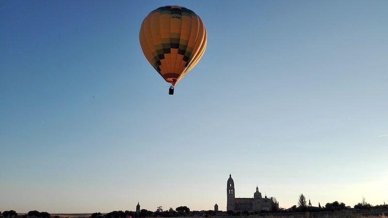 Viaje en globo de hoy 14-08-18 en Segovia
