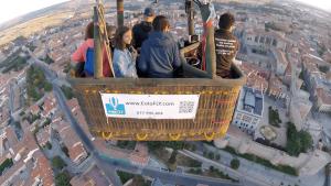 Volando en Globo sobre la ciudad de Ávila