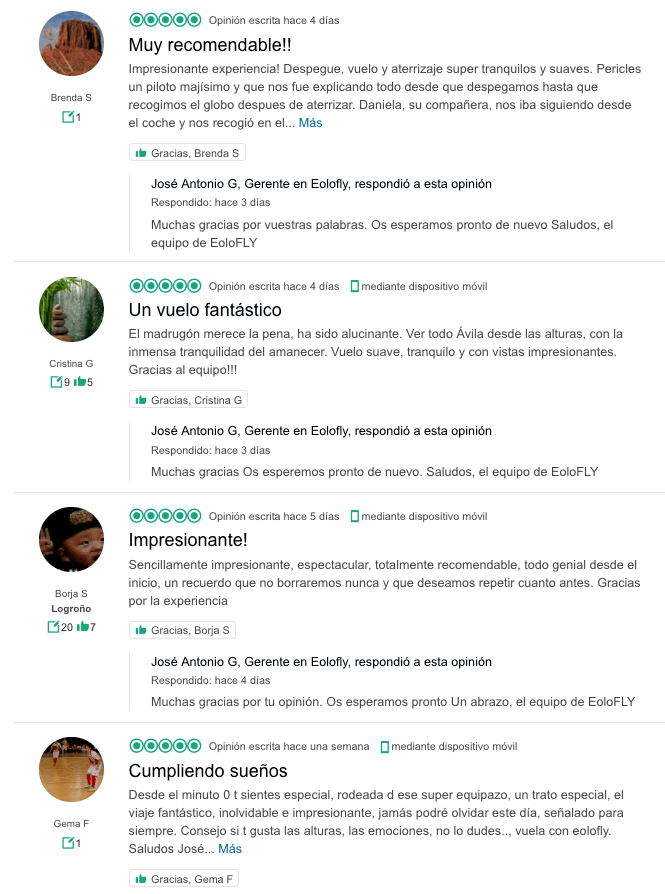 Here, you can find some opinions on TripAdvisor