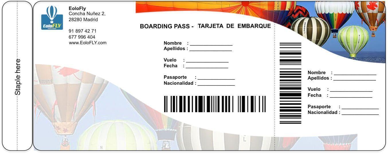 Billete para el evento del Viaje en Globo en Toledo