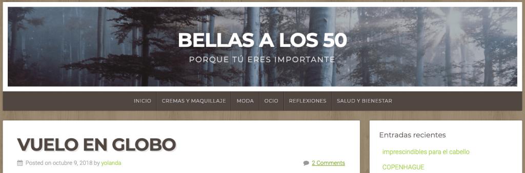 Blog Bellas a los 50 y su experiencia en el viaje en globo