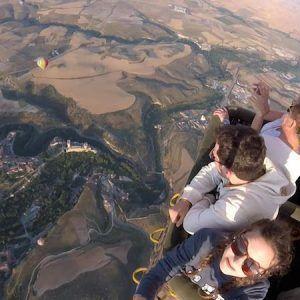 Suave vuelo en globo aerostático
