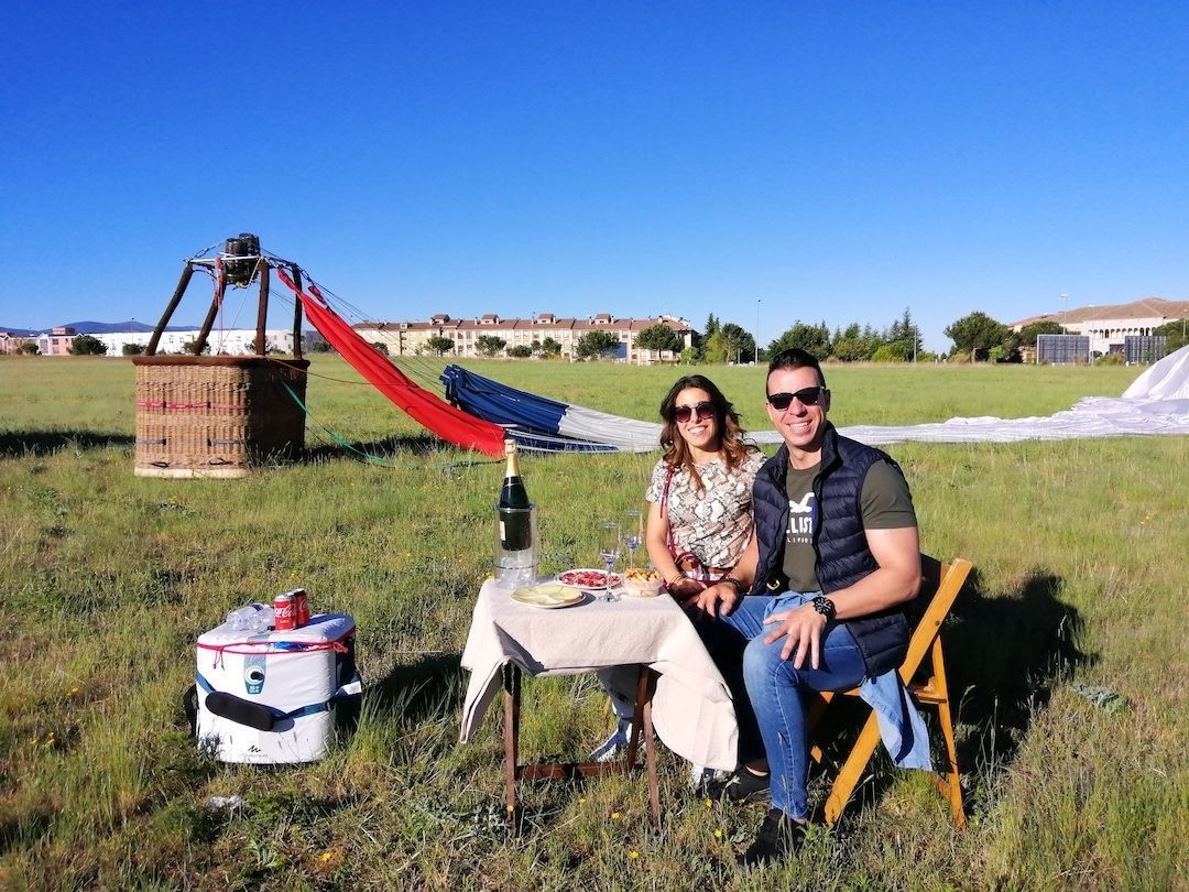 Private Hot Air Balloon with champagne toast