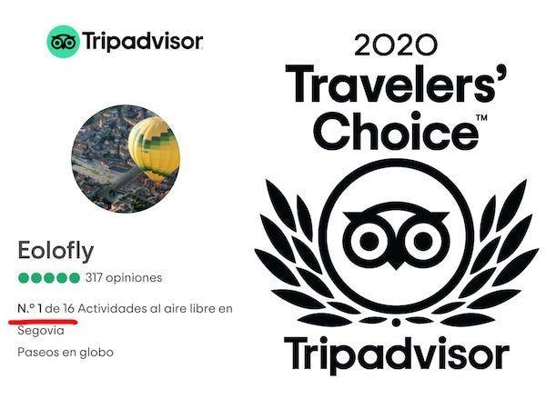 Número 1 de experiencias y Travlers' Choice