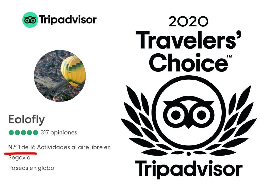 Número 1 de actividades y 2020 Travelers' Choice
