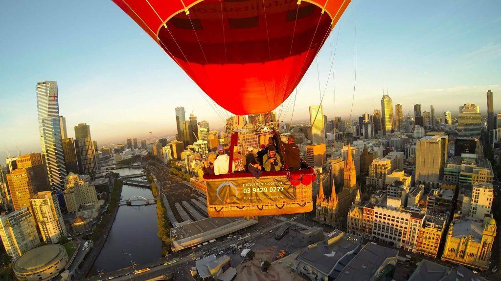 El mejor vuelo en globo de Oceanía. Vuelo en globo sobre Melbourne - Australia
