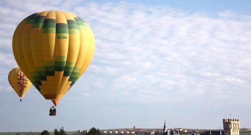 Billete globo en Segovia