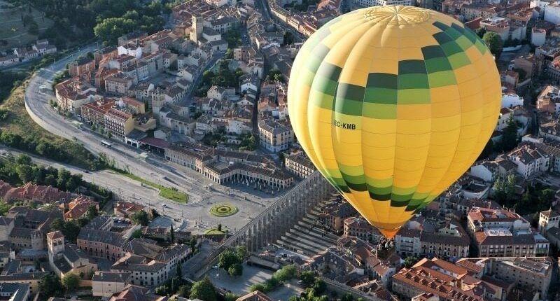 acueducto vuelo en globo en Segovia