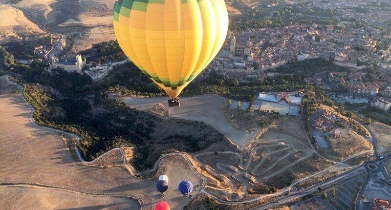 increible el paseo en globo en Segovia