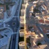 Muralla de Ávila desde el vuelo en globo aerostático