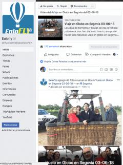 Publicación el mismo día del Vuelo en Globo