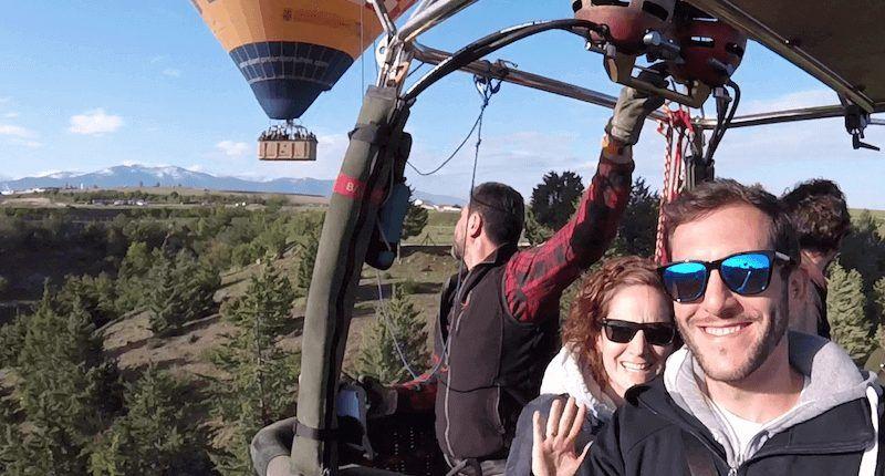 paquete especial parejas vuelo en globo
