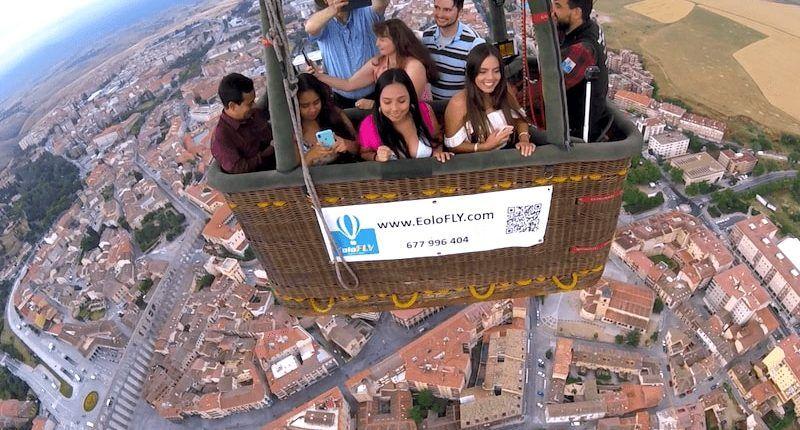 viaje en globo sobre el acueducto de Segovia
